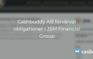 Cashbuddy förvärvar obligationer