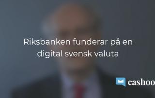Digital svensk e-krona