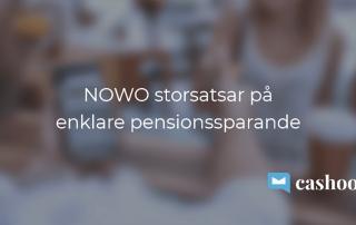 Nowo kreditkort storsatsar på pension