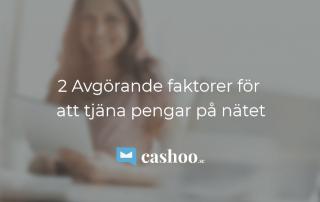 2 avgörande faktorer för att tjäna pengar online