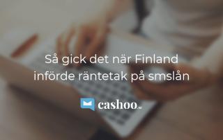 Räntetaket på snabblån Finland