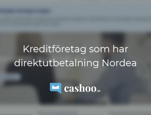 12 Smslån (snabblån och kontkrediter) med direktutbetalning till Nordea