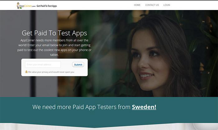 tjäna pengar med appar genom att testa dem på appcoiner
