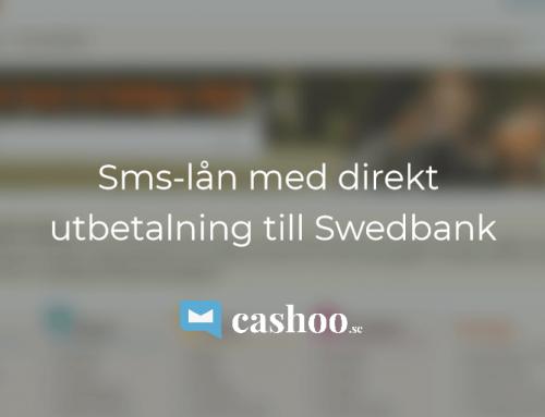 Sms – lån med direkt utbetalning till Swedbank
